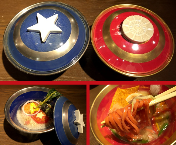 Awesome Captain America and Iron Man Ramen now being served at Tokyo restaurant 【Photos】