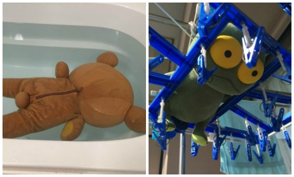 Death and torture: Photos of Japan's plushies being washed are somehow terrifying【Pics】