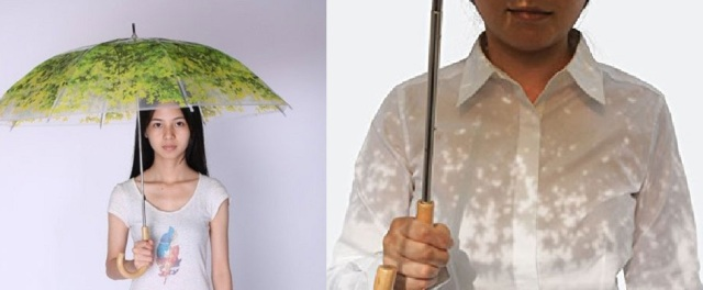 "New ""foliage umbrella"" lets you take shelter from the elements with beautiful results"