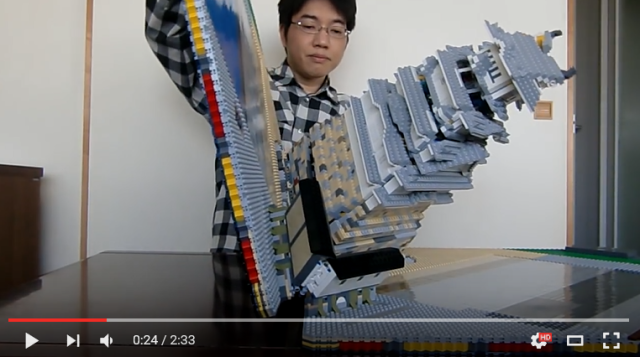 This Lego samurai castle would be amazing even if it wasn't also an awesome pop-up book 【Video】