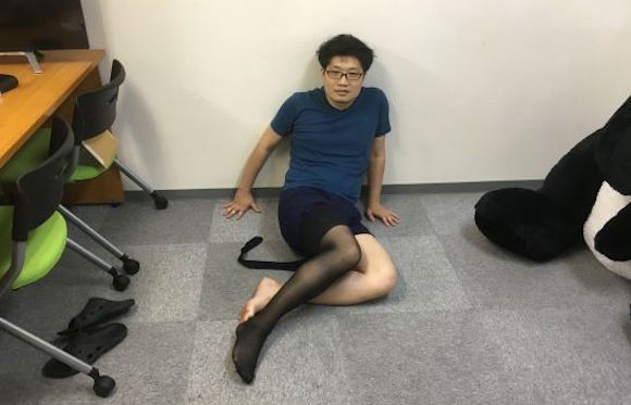 Our lonely male reporter finds romance, Zen contentment with a pair of stockings