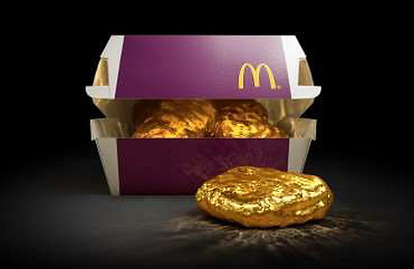 McDonald's Japan offers customers the chance to win a chicken nugget made from 18-karat gold