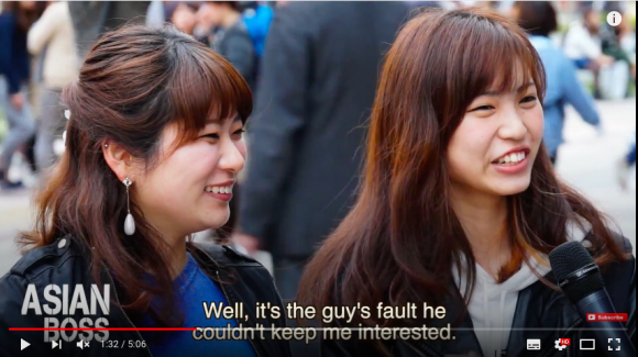 Here's what Japanese men and women think about cheating【Video】