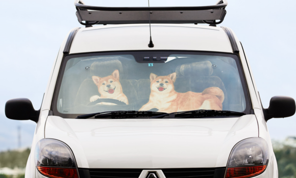 Always have cute puppies waiting for you to come back to your car with Shiba Inu sun shades