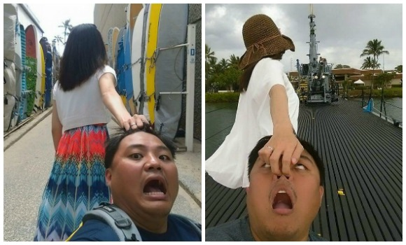 "Taiwanese newlyweds parody ""Follow Me To"" couple with ""Drag Husband To"" photos 【Pics】"