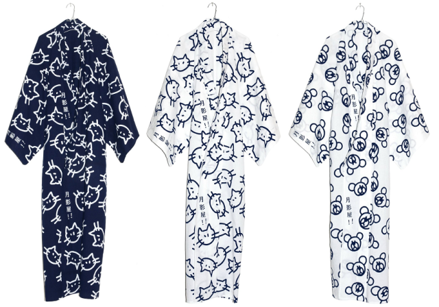 Off-beat yukata shop Tsukikageya releases new line with adorable kitty and bear prints