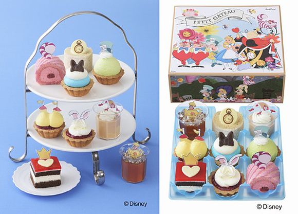 Enjoy an Alice In Wonderland afternoon high tea party with Cozy Corner bite-size character cakes