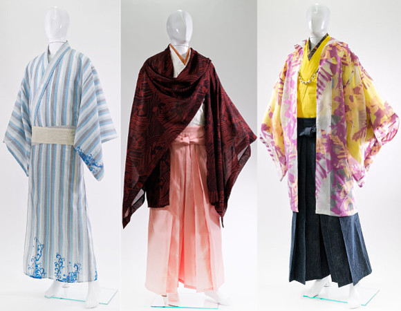 Walk the streets of Japan in style with bushido-influenced men's summer kimono range from Kyoto