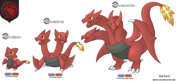 Game of Thrones Pokemon - A Song of Blue and Red: Targaryen
