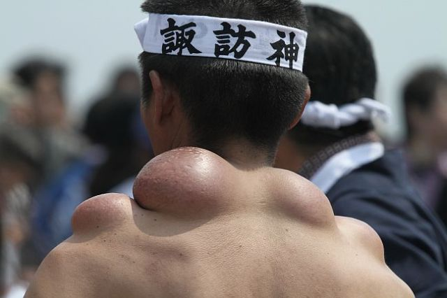 "These ""Mikoshi Dako"" are the badges of honour from a Japanese festival"