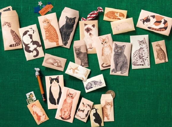 Cute cat money envelopes will help you give the gift of cash and save some animals