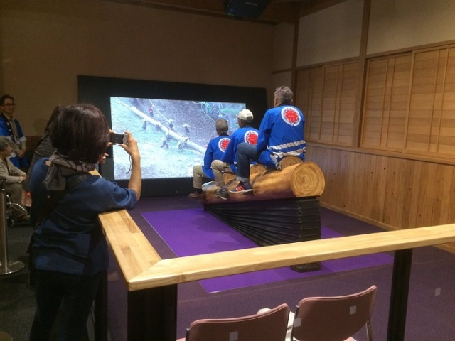New attraction lets you relive the thrill of Japan's deadly log-riding festival