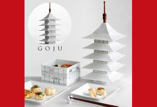 Add some Japanese architecture to your dinner table with beautiful pagoda dinnerware sets
