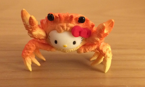 Good God, what is that crab doing to Hello Kitty?!? 【Photos】