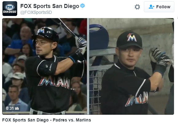"Ichiro's lookalike ""Nichiro"" is cheering him to 3,000 (and more) in his own special way【Video】"