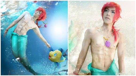 """I want to be part of your world too!"" Thai cosplayer amazes internet as male Ariel 【Pics】"