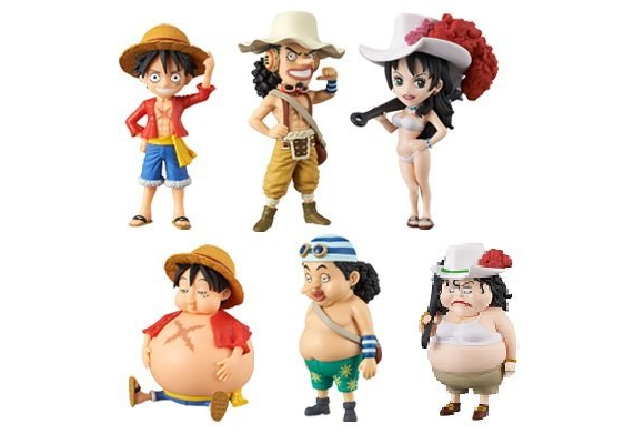 One Piece pirates let themselves go, get back into shape with chubby new figure series