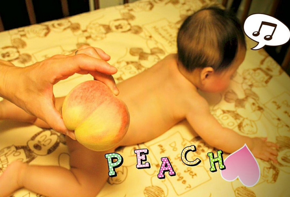 Latest Japanese Instagram trend: photos of baby butts covered up with peaches【Pics】