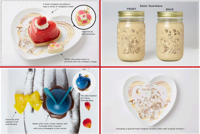 New Sailor Moon cafe menu items coming to Tokyo, plus line of dessert-themed anime accessories