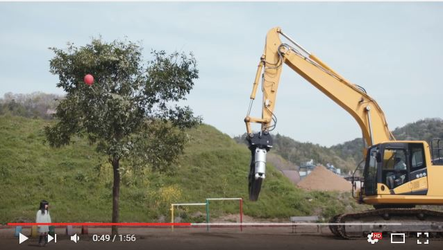 Balloon stuck in a tree? This looks like a job for…Heavy Machinery Girl!