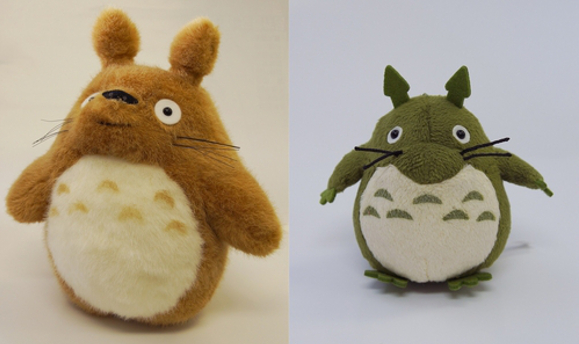 Original Totoro plush toys from 80s and 90s re-issued for Studio Ghibli exhibition