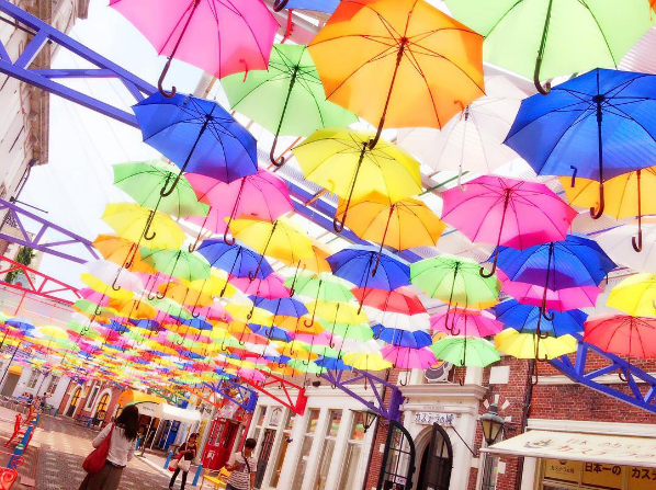 Beat the heat with a beautiful umbrella sky! Nothing can rain on this parade【Photos】