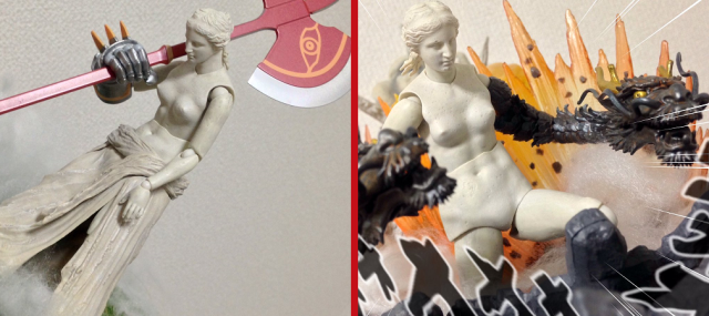 Japanese figure fan gives the Venus de Milo a ferocious combat makeover 【Photos】