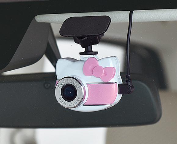 Let Japan's beloved anime cat keep an eye on the road for you with the Hello Kitty Drive Recorder