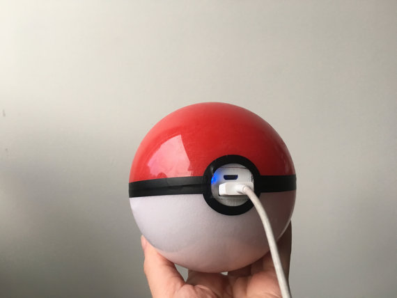 Pokémon Go players can now keep phones charged with hand-made Poké Ball portable battery charger