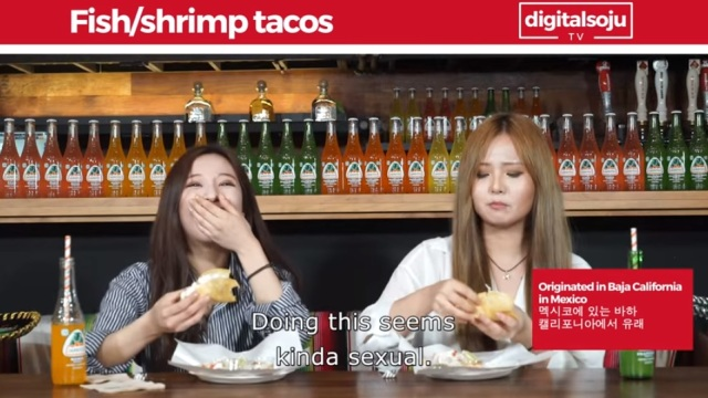 Cow-tongue tacos and spicy tripe soup: Korean girls try authentic Mexican food for the first time
