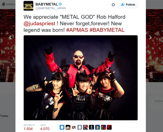 Judas Priest vocalist Rob Halford joins BABYMETAL onstage for an epic performance【Video】
