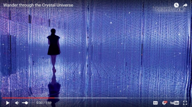 Interactive art exhibit in Tokyo lets you play with koi, walk through endless crystal universe