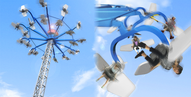 Japanese thrill ride will let you fly like a bird as you ride the wind down from over 100 feet up