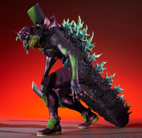 Evangelion Unit-01 morphs into Godzilla in exquisitely freaky crossover figure【Pictures】
