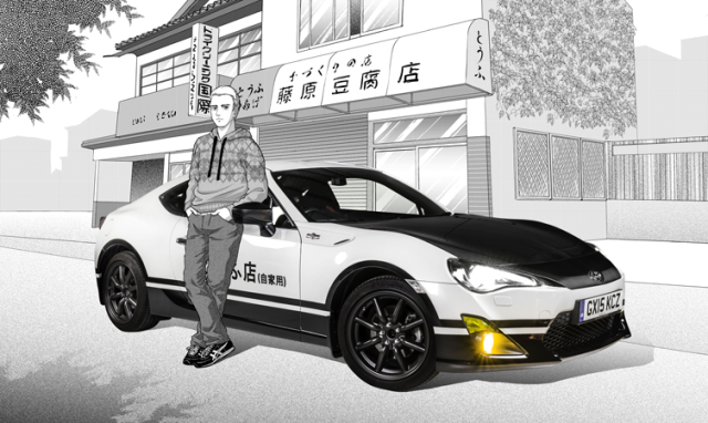 Toyota builds an actual Initial D concept car, plus awesome manga artwork for it 【Photos】