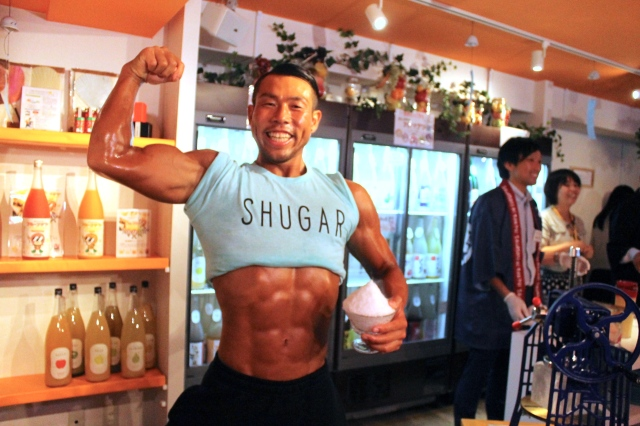 Get shaved ice and chiseled muscles at macho kakigori event【Photos】