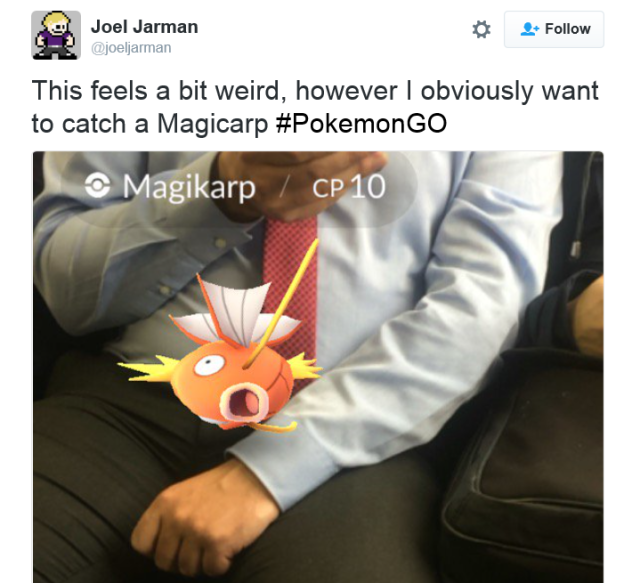 As mobile game Pokémon GO launches, players keep finding Magikarp in crazy locations 【Photos】