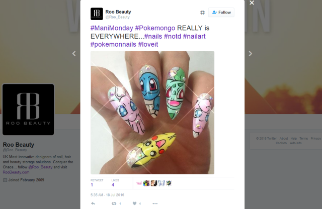 Throwing Pokéballs in style: Women show off their awesome Pokémon painted nails【Pics】