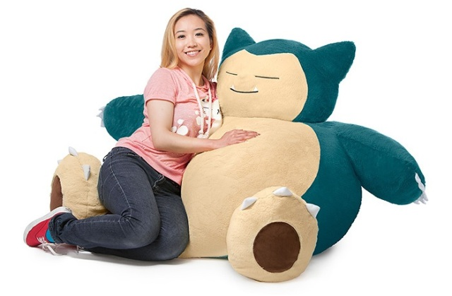 Catch Pokémon while sitting on one with the new Snorlax Bean Bag Chair