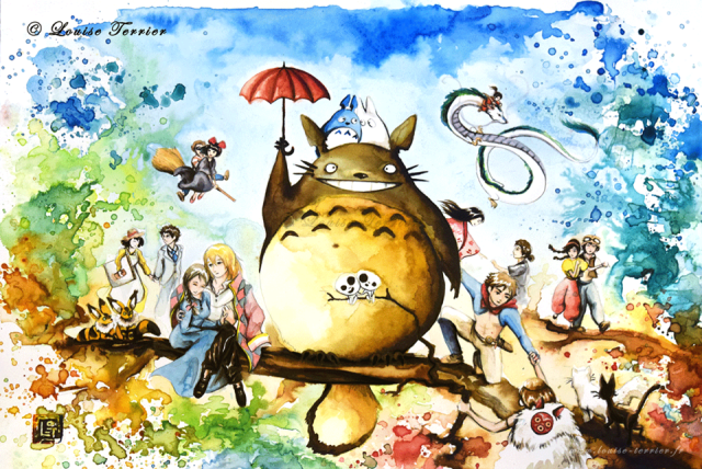 French artist brings the world of Studio Ghibli to life with vibrant series of watercolour prints