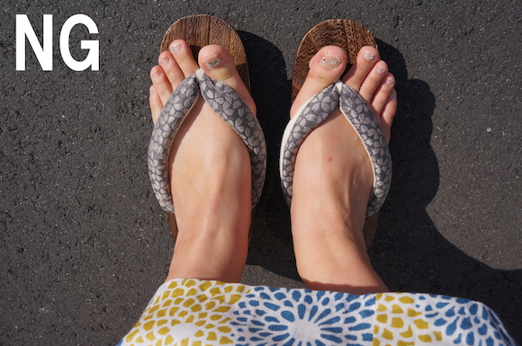 How to wear Japanese geta the correct way and avoid blisters at the summer festival