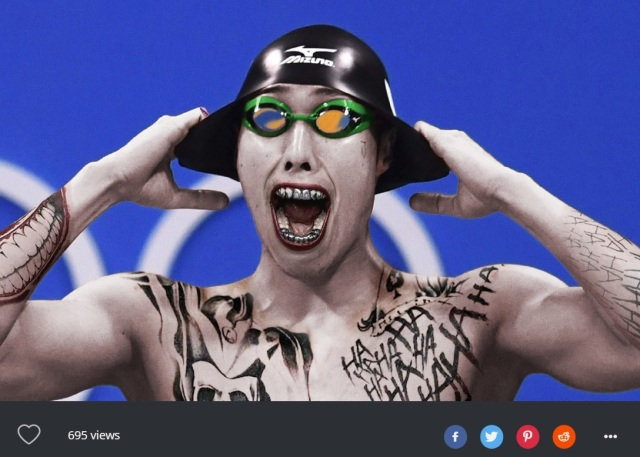 Olympic swimmer's candid shot makes the best Photoshop Battle fodder