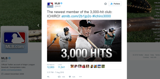 Ichiro Suzuki becomes the first Japanese player to achieve 3,000 MLB hits