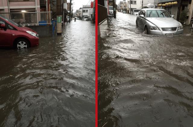 Lightning storms pound east Japan, turn Kawasaki into a giant rain puddle【Photos】