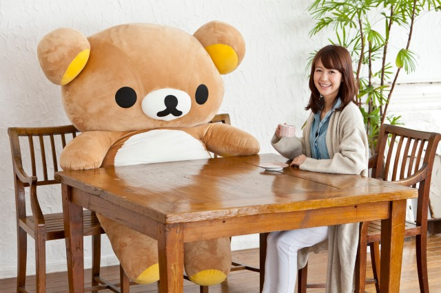 Hang out at home with the giant life-sized Rilakkuma bear!