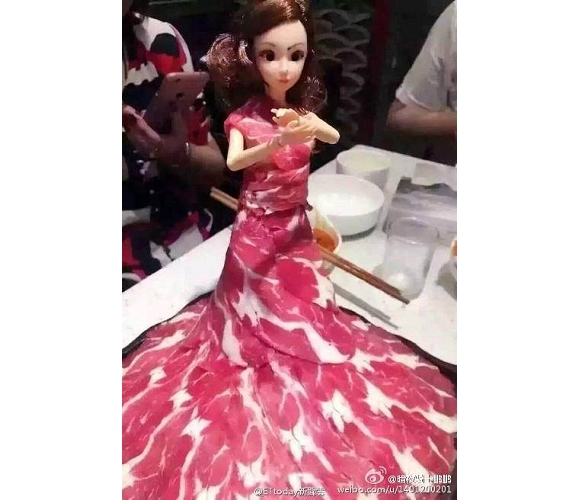Tasty or Tacky? This doll's dress is what's for dinner