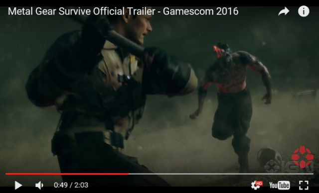 Trailer for Metal Gear Survive looks like the death of the video game franchise as we know it