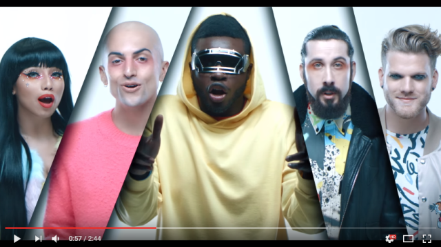 A cappella group Pentatonix shows off their make-up with new Perfume medley