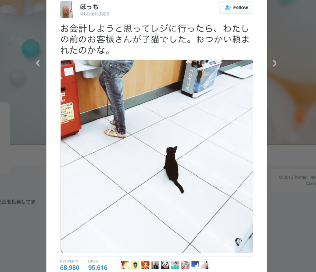 Cute black cat waiting at register in Japanese convenience store makes us wonder where Kiki is