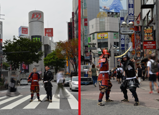 Tokyo photo studio turns you into street samurai with armor photo shoot in the heart of downtown